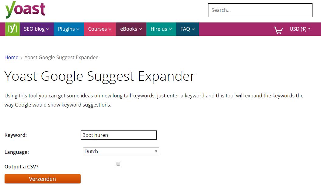 Yoast Google Suggest Expander
